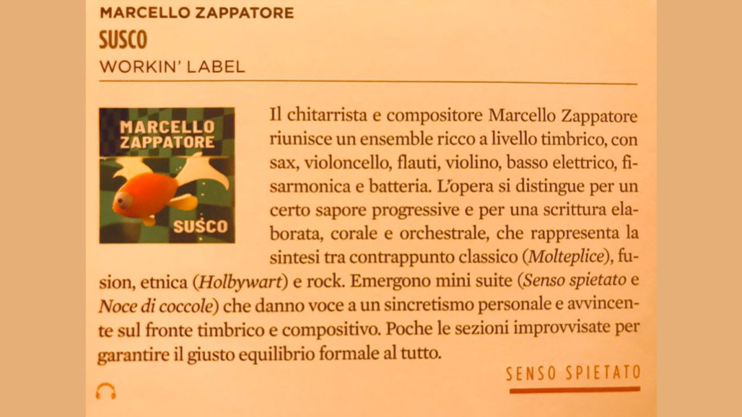 Susco Recensione JAZZIT MAGAZINE Marcello Zappatore