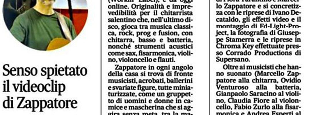 Senso Spietato Marcello Zappatore recensione su il quotidiano di lecce